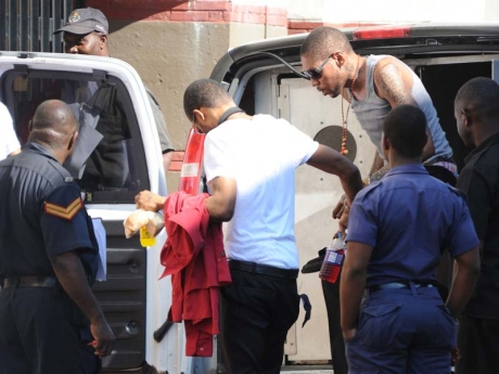 Vybz Kartel arriving for court this morning. March 13th, Photo taken Jermain Barnaby